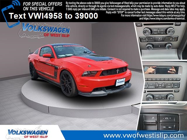 Pre-Owned 2012 Ford Mustang Boss 302